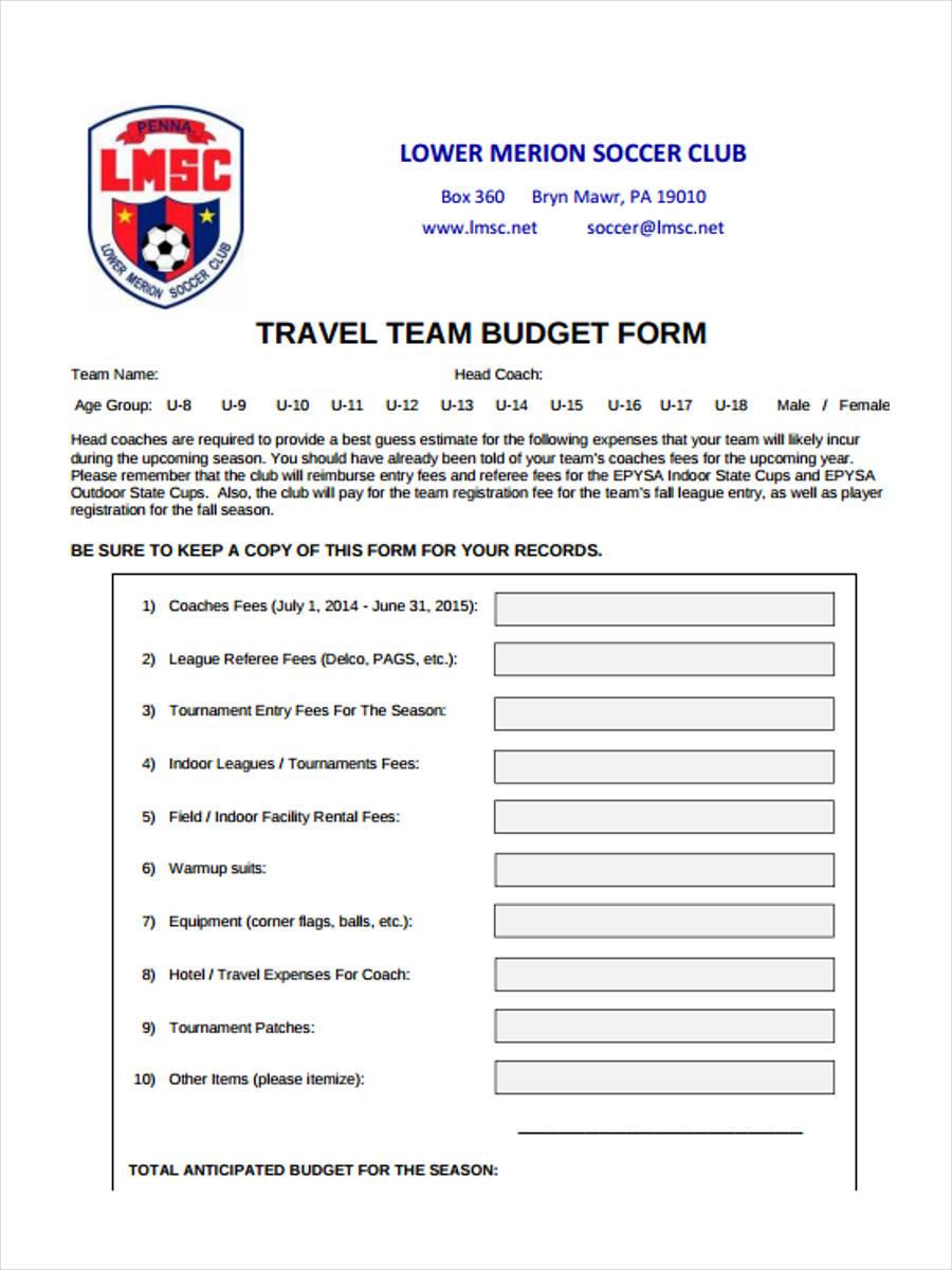 travel team budget