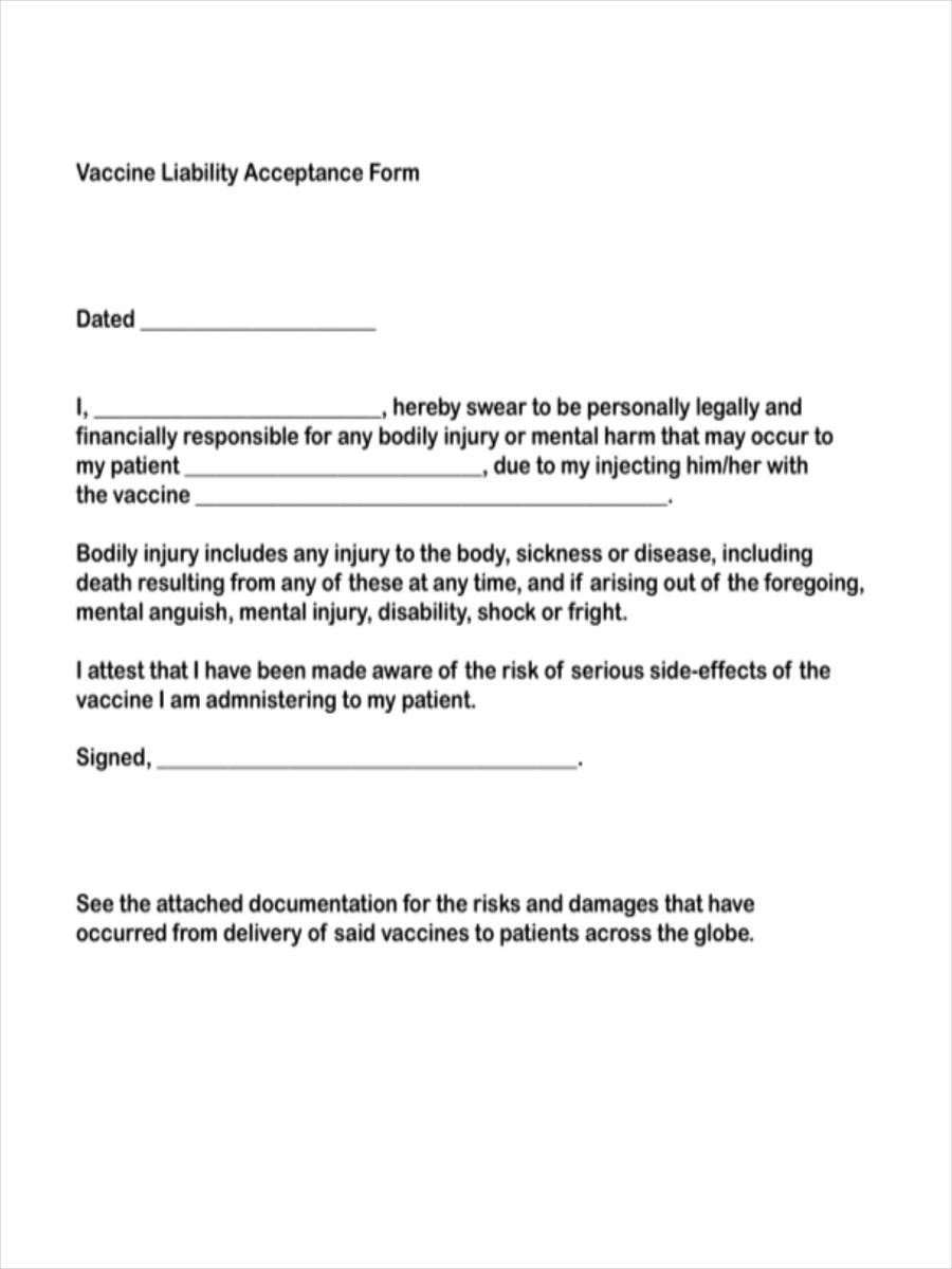 vaccine liability acceptance