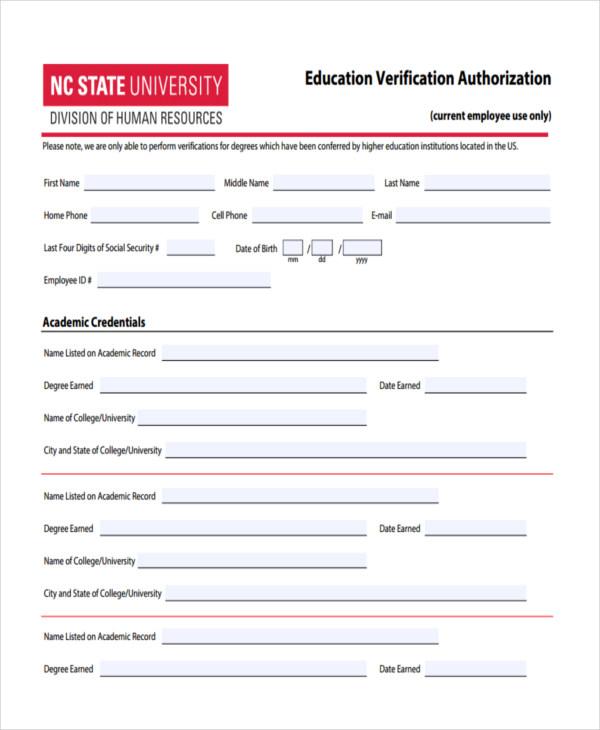 verification authorization