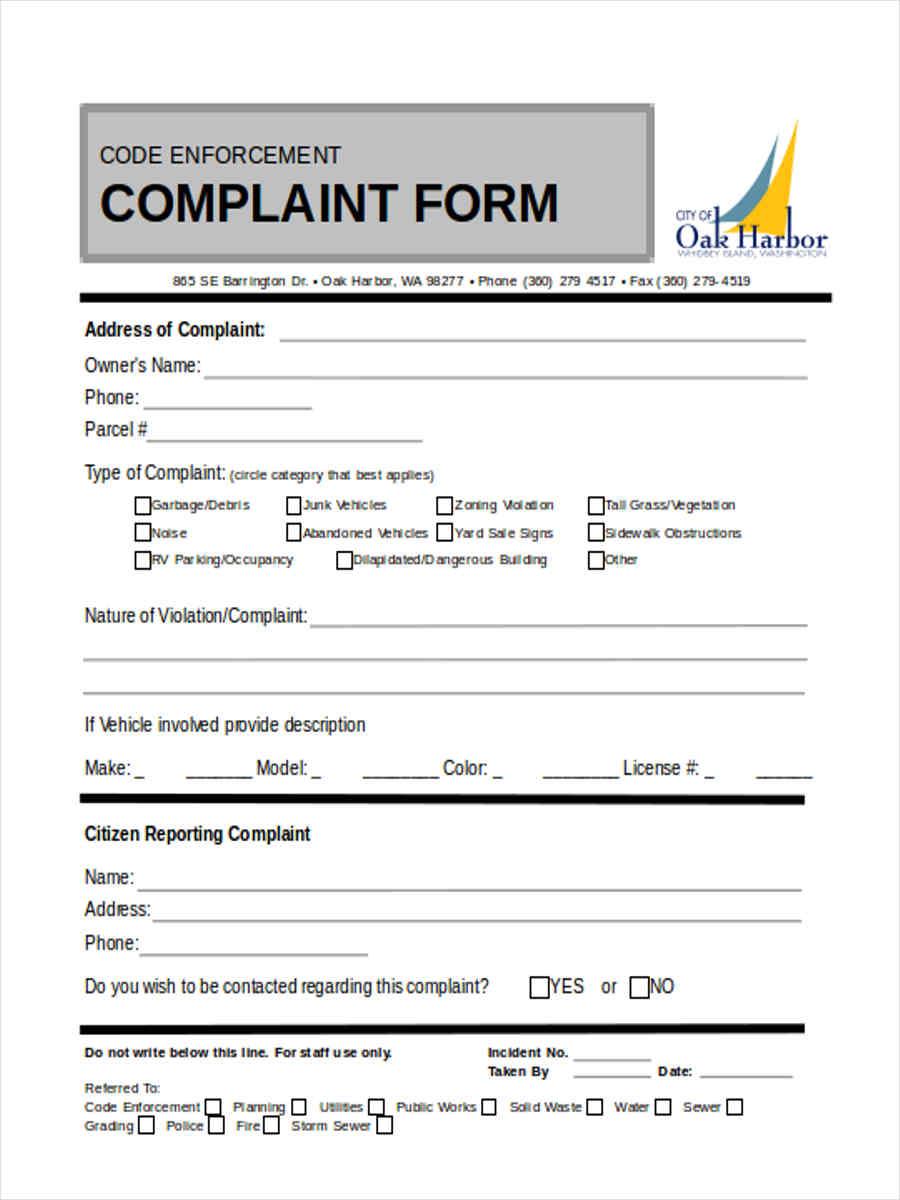 violation complaint notice