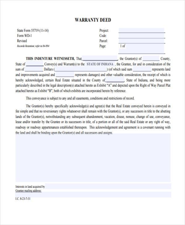 warranty deed transfer