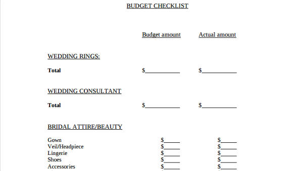 6 wedding budget form samples free sample example format download