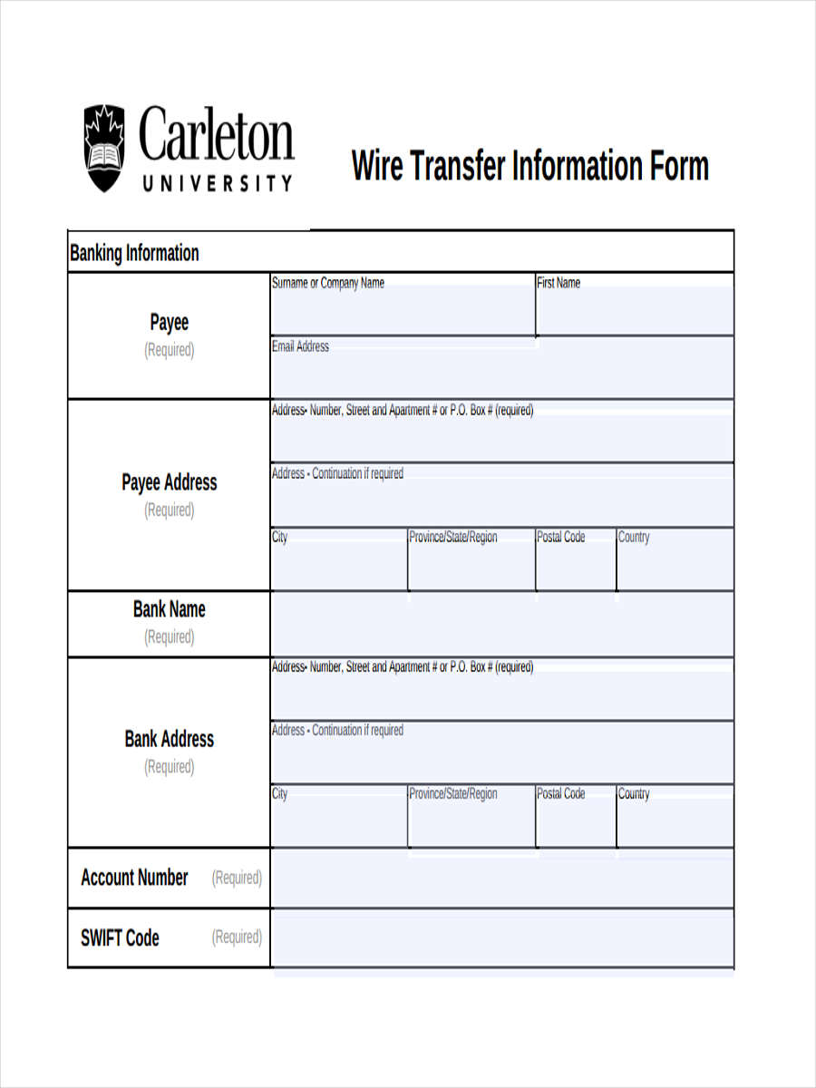 Free 23  Transfer Forms In Pdf