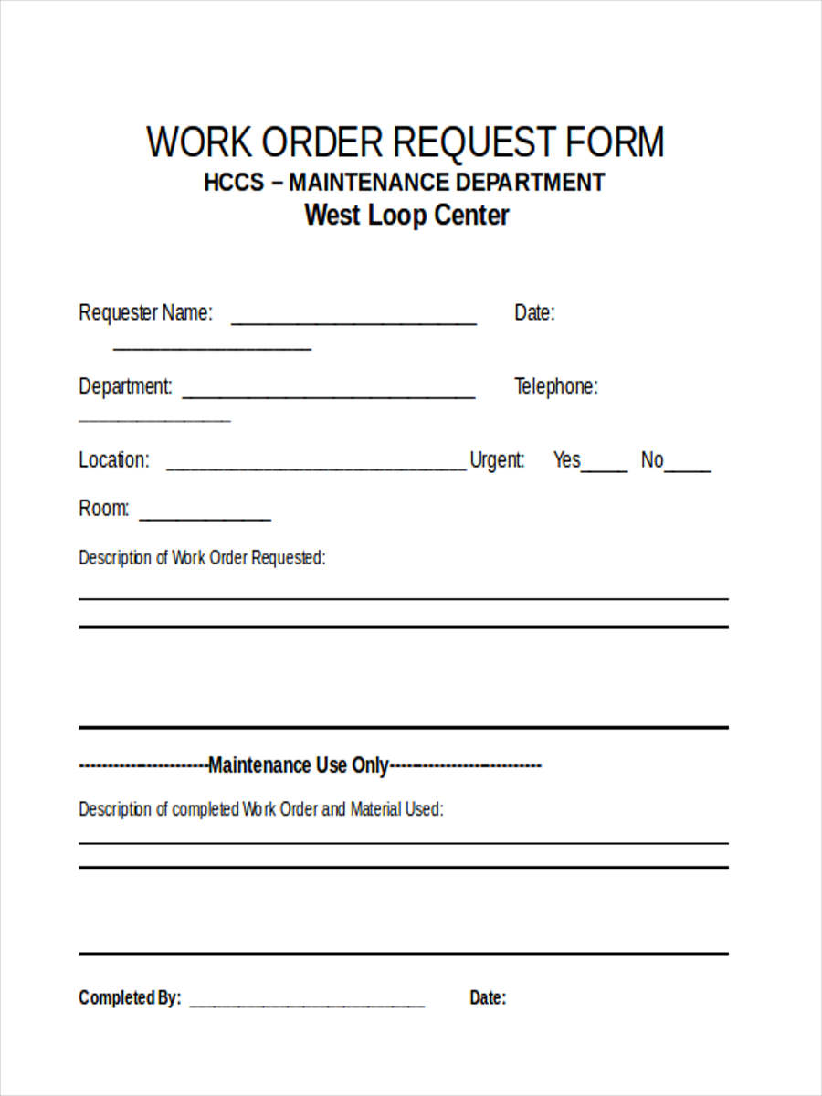 6  work requisition forms