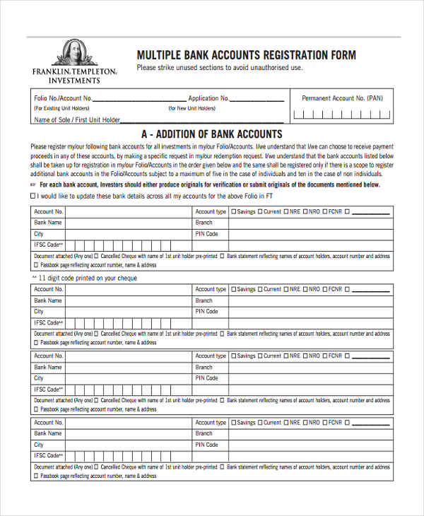 multiple bank accounts