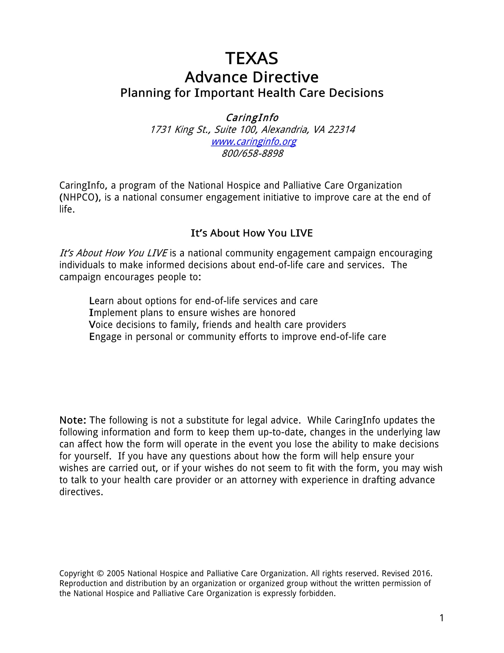 advance health care directive blank form
