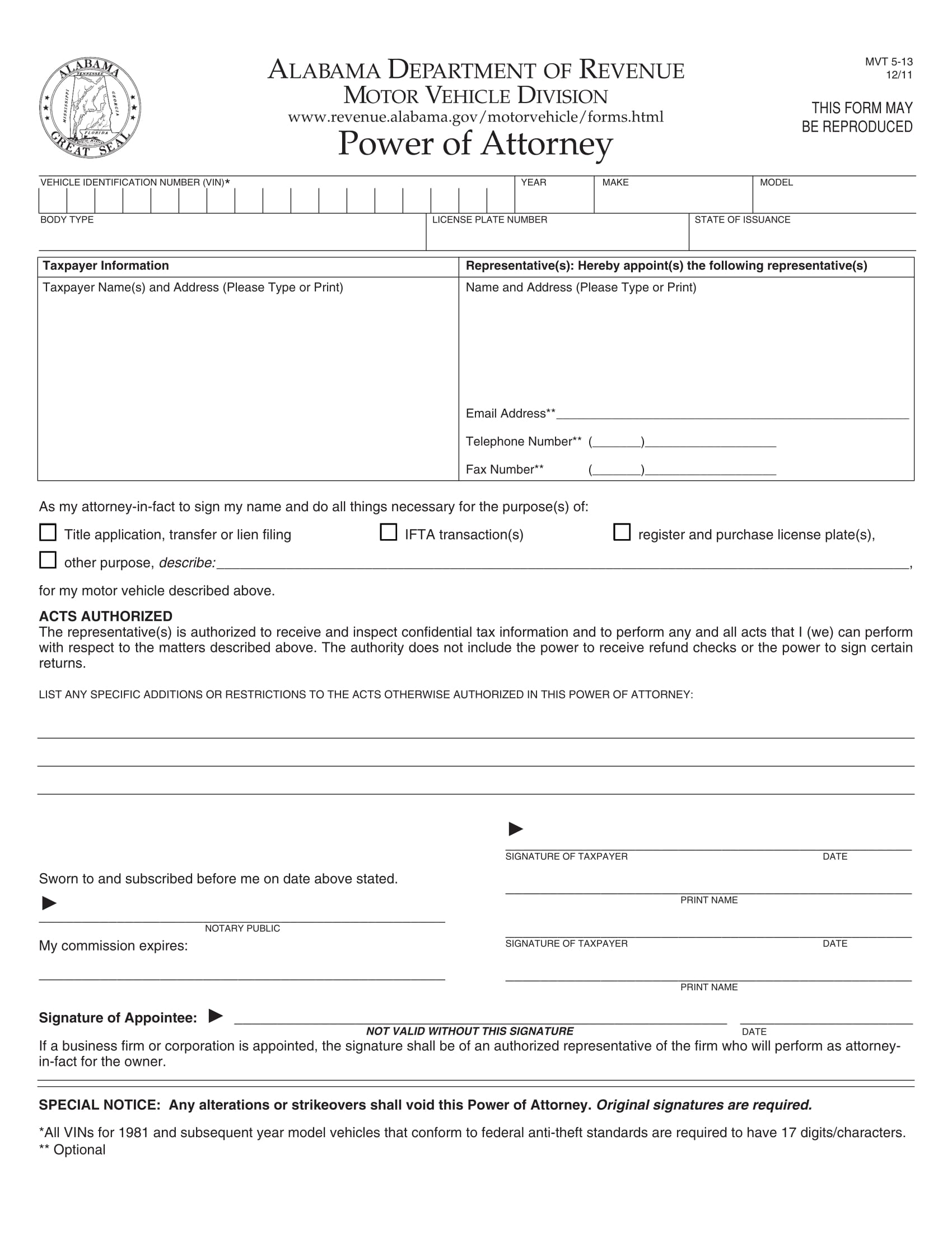 30 power of attorney forms by state alabama poa 1 falaconquin