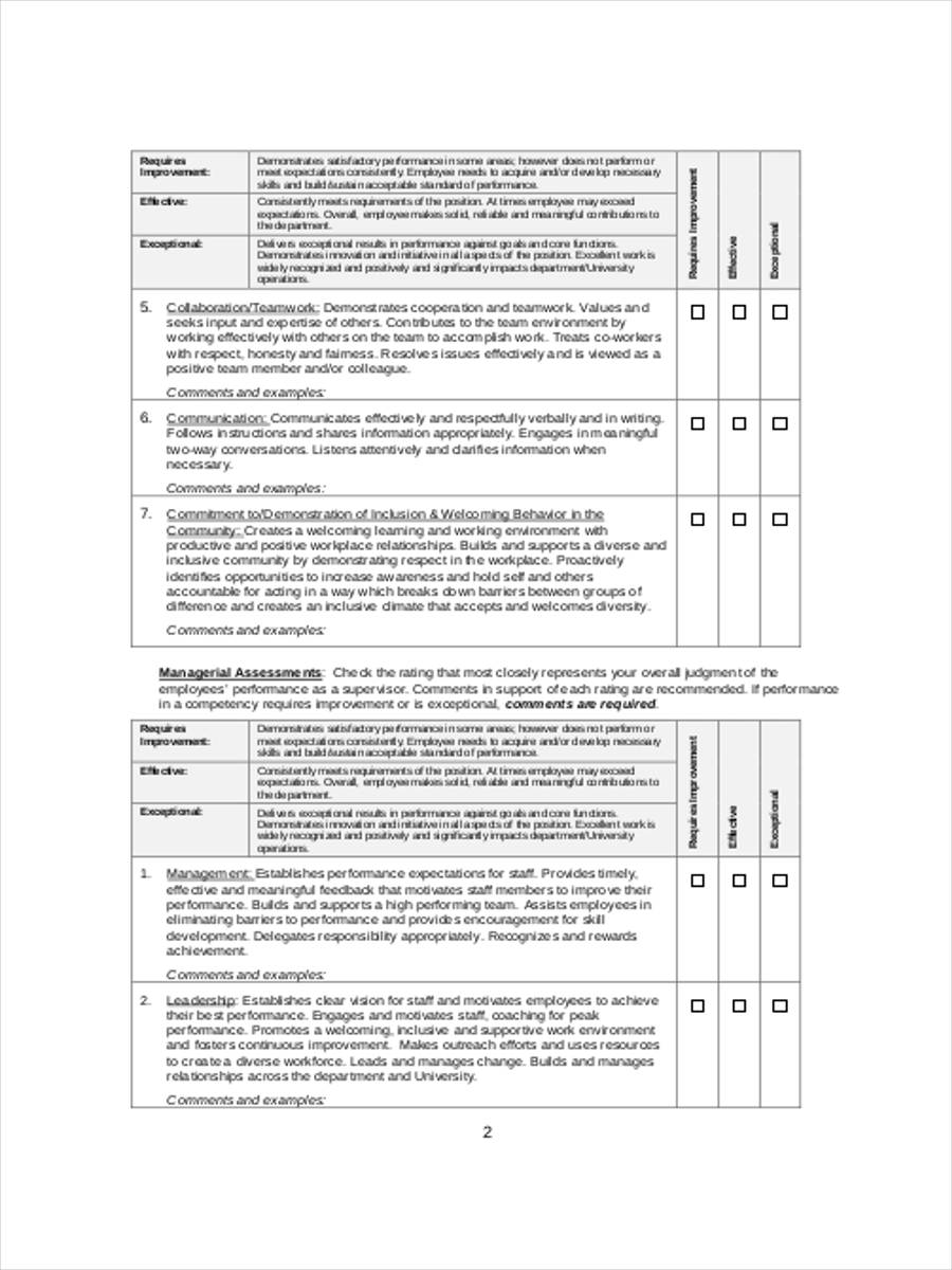 Employee Performance Reviews | 27 Performance Review Forms In Pdf
