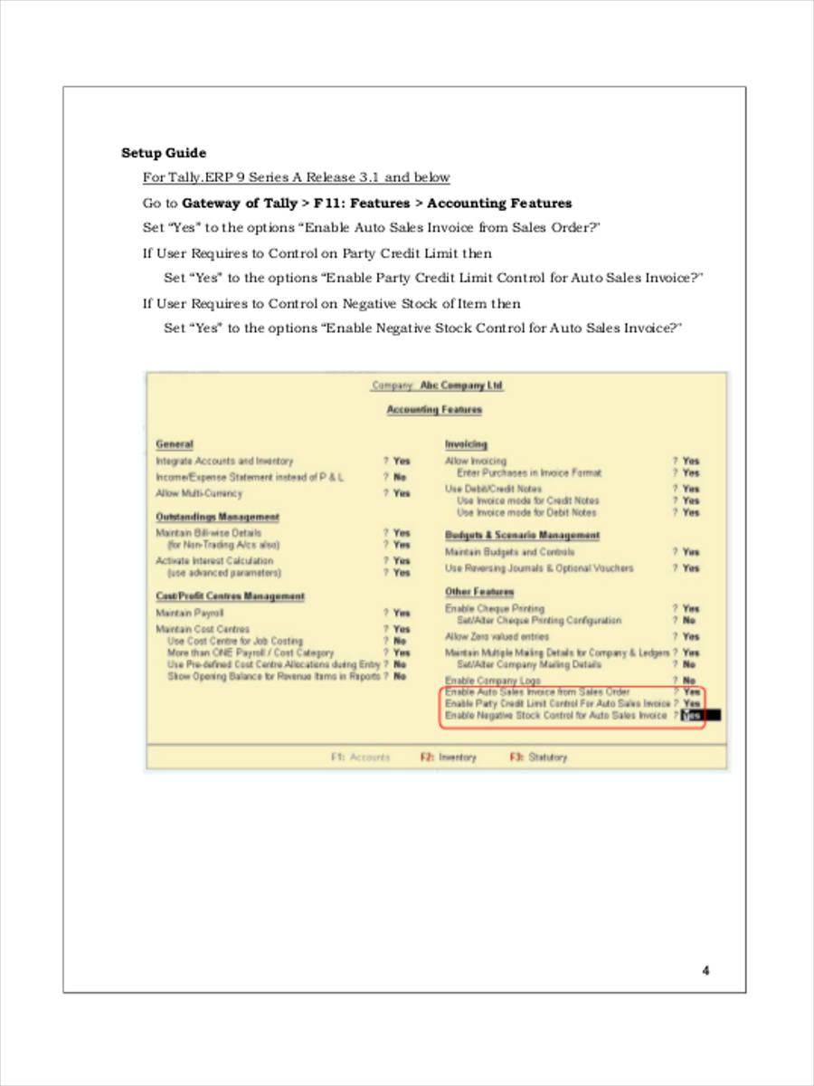 auto sales invoice