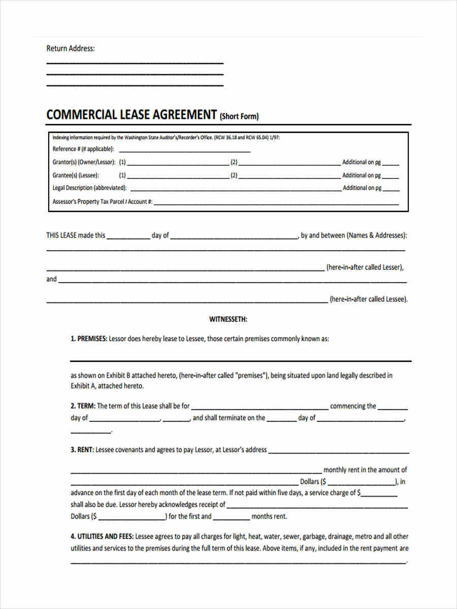 basic commercial lease form