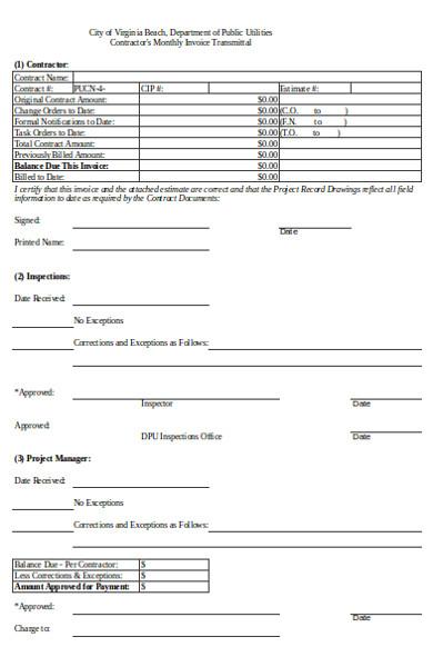 basic construction invoice form