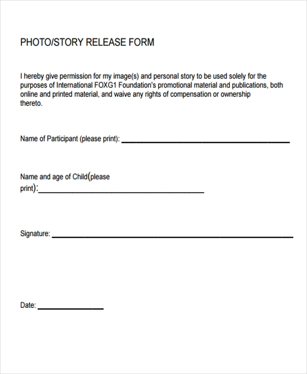 21+ Print Release Form Templates
