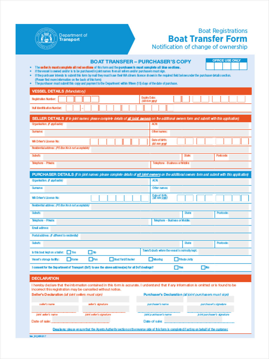 9  registration transfer forms