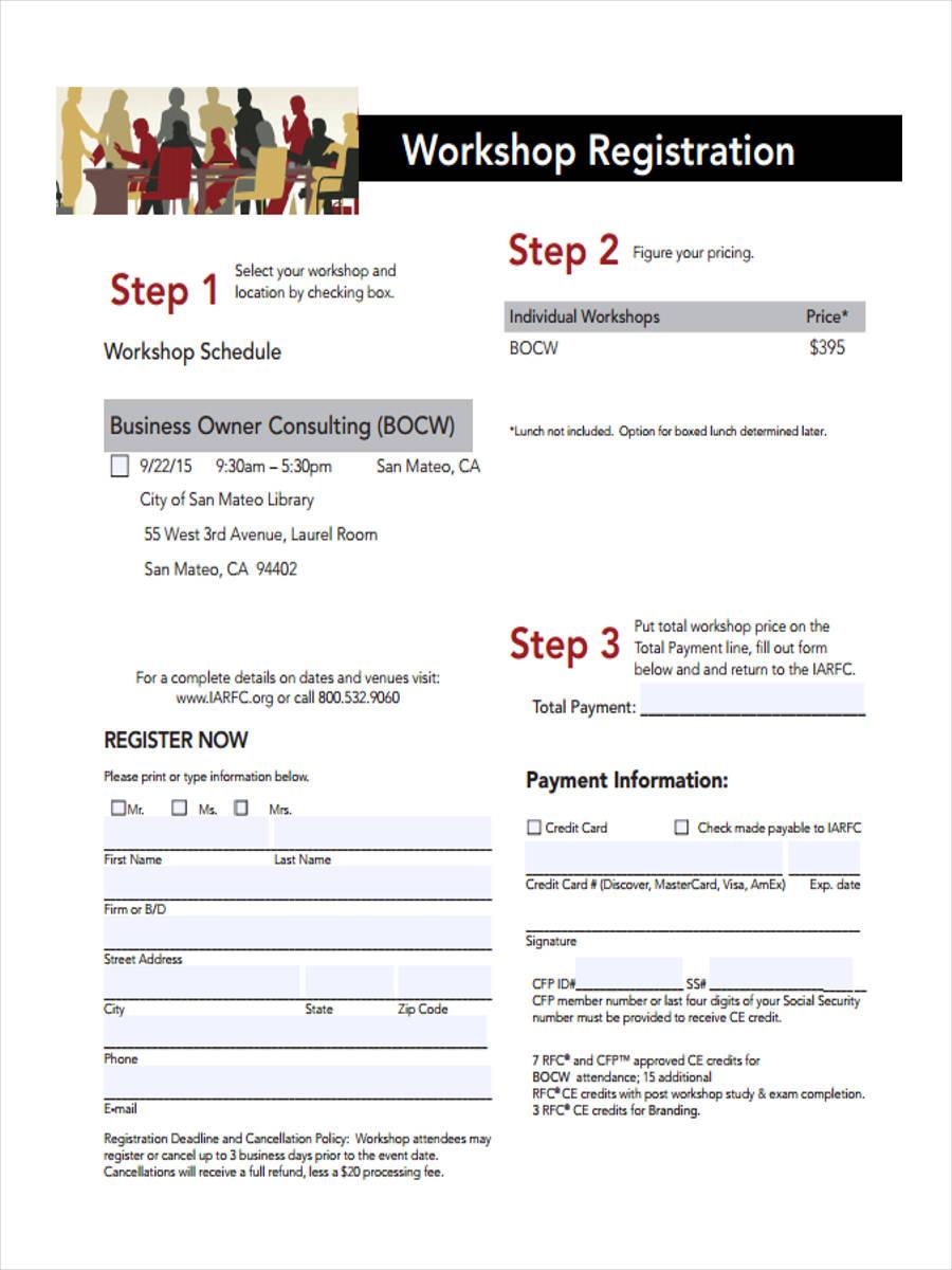 business workshop form