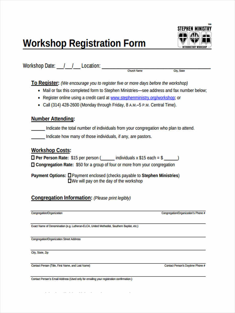 business workshop registration