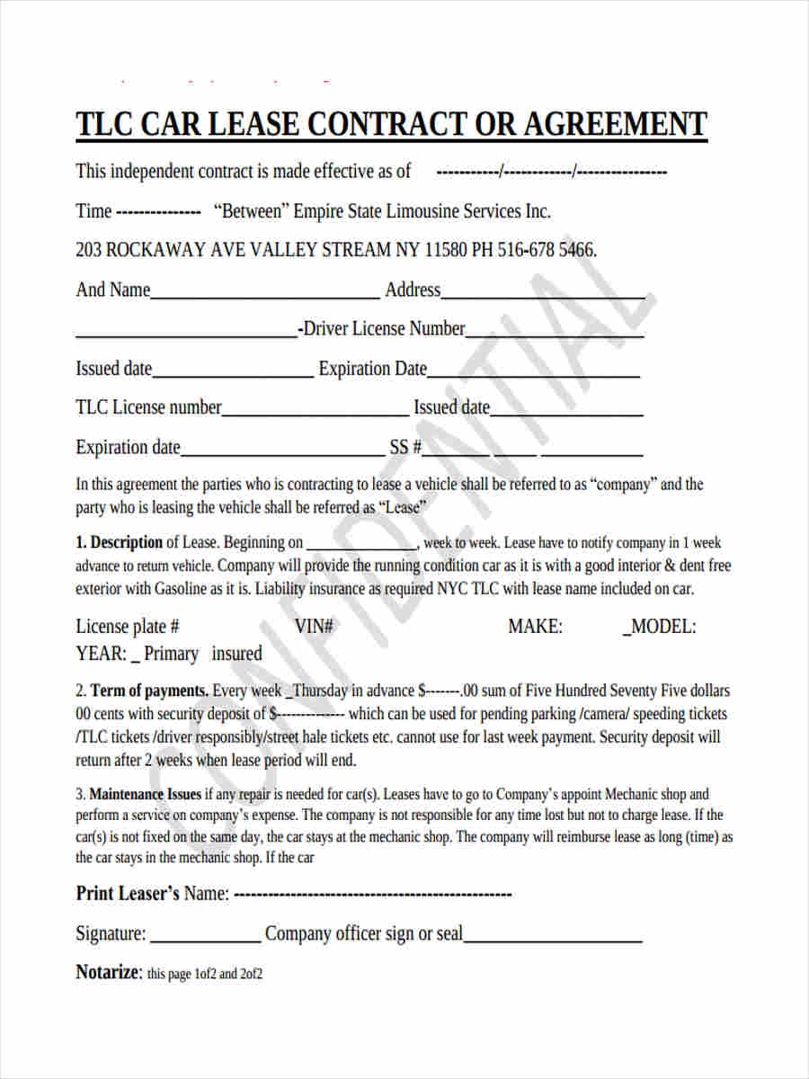 car lease contract form1