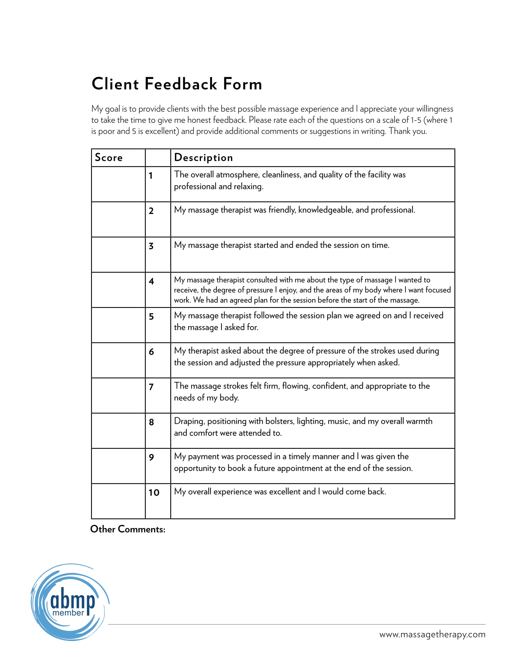 Client Feedback Form Pdf 1