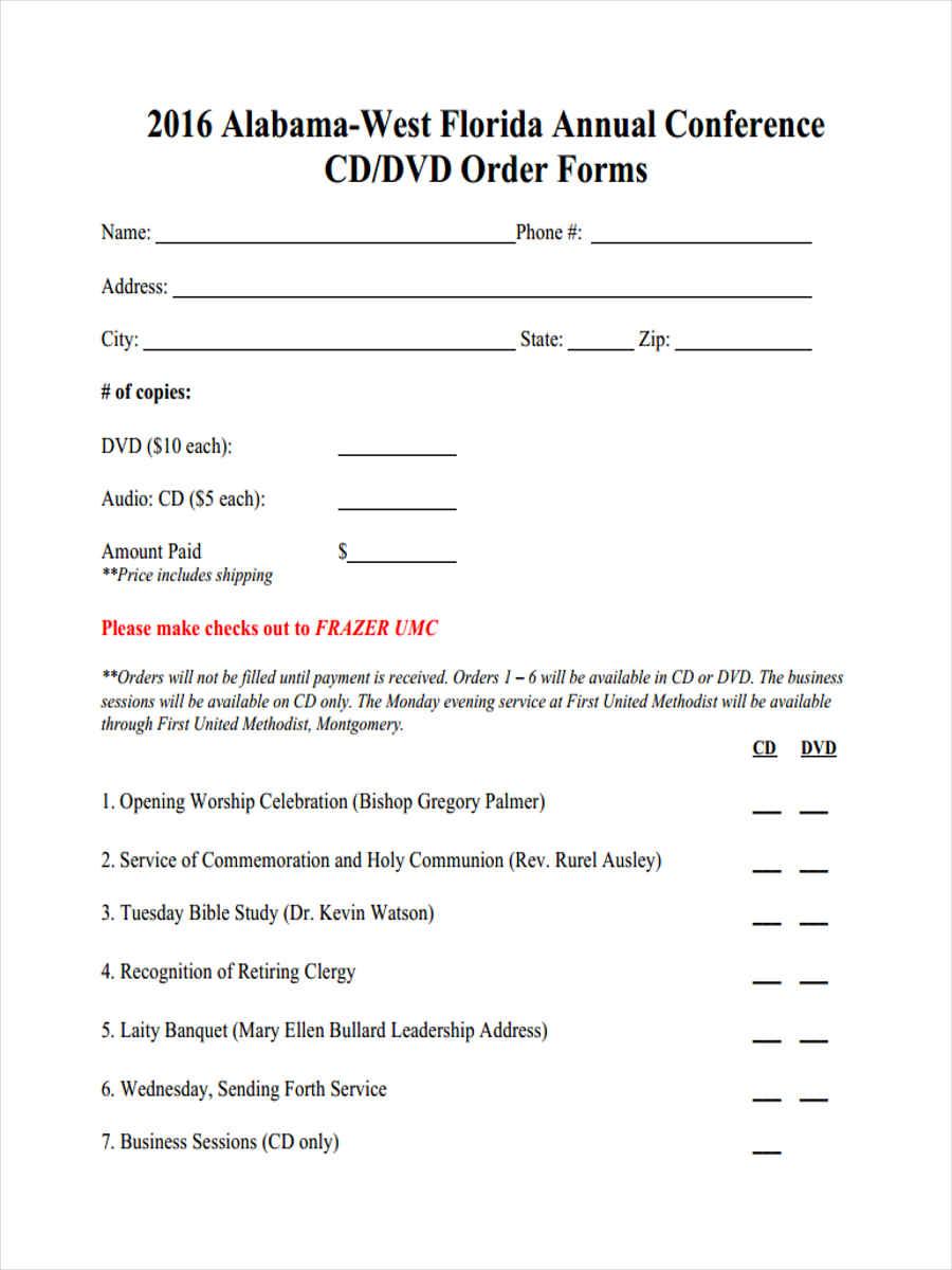 conference cd order