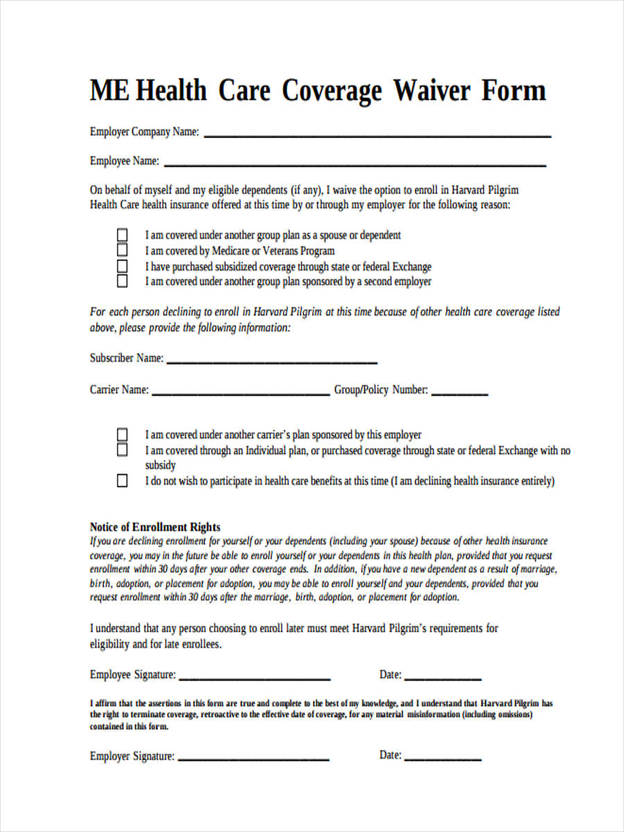 coverage form