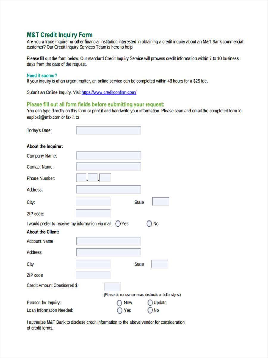 credit inquiry information