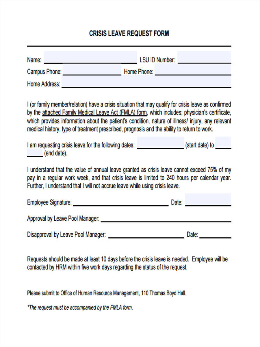 29+ Leave Request Form in PDF