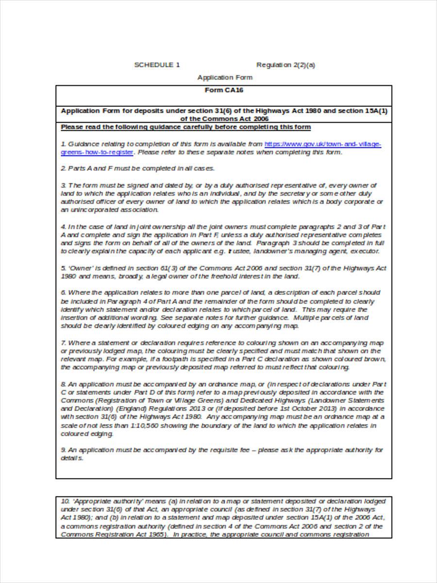 deposit application form