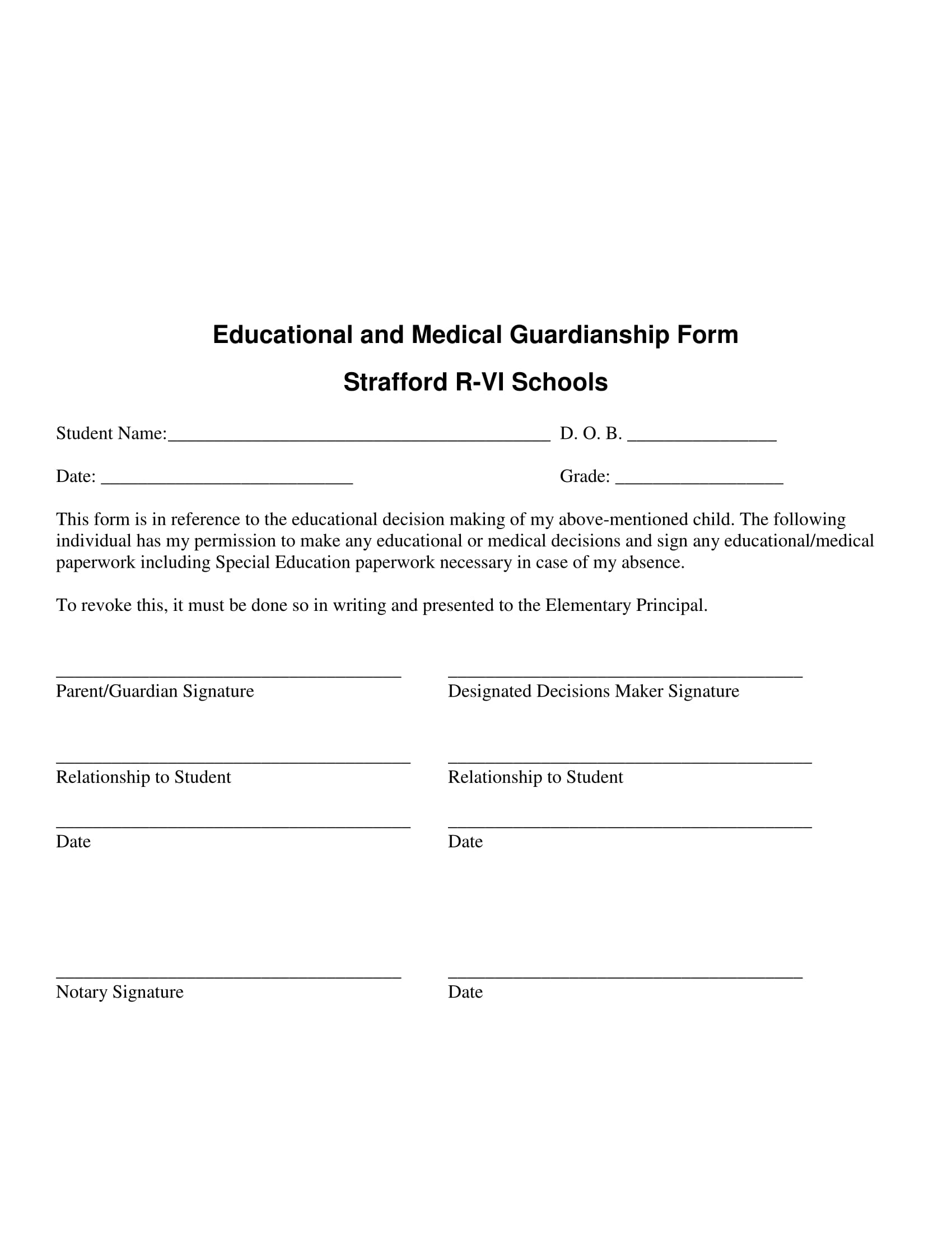 10+ Guardianship Forms: Guardianship Affidavit, Guardianship ...