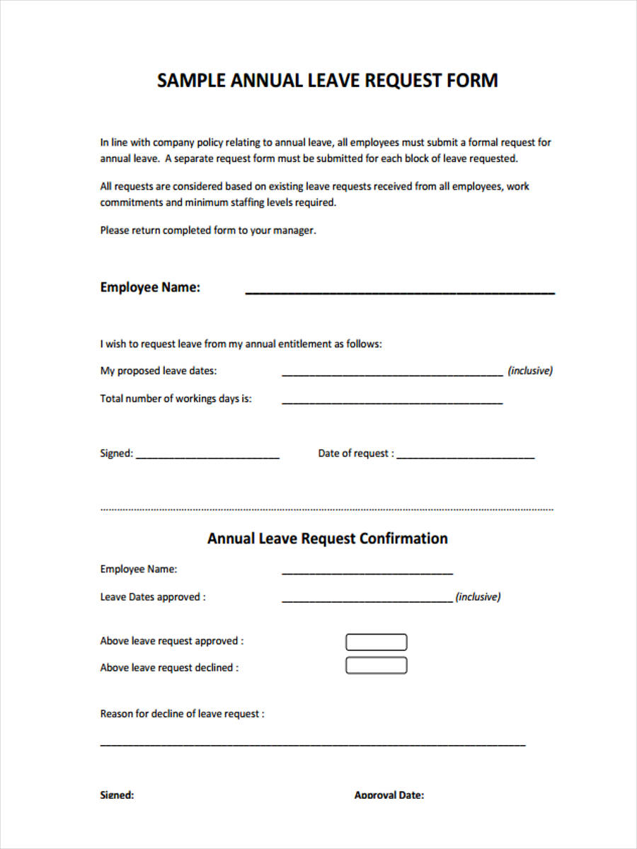 employee annual leave request