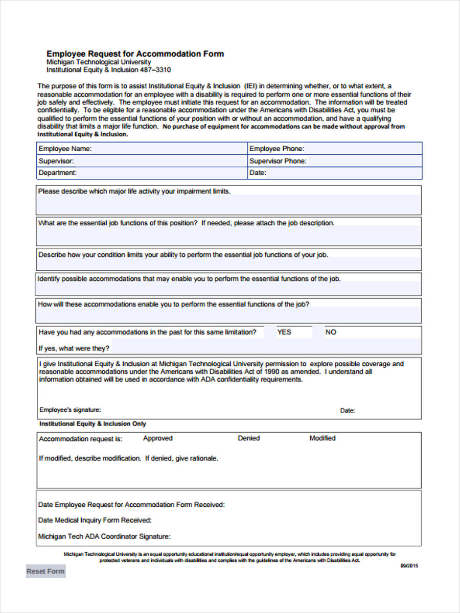 50 Sample Employee Request Forms