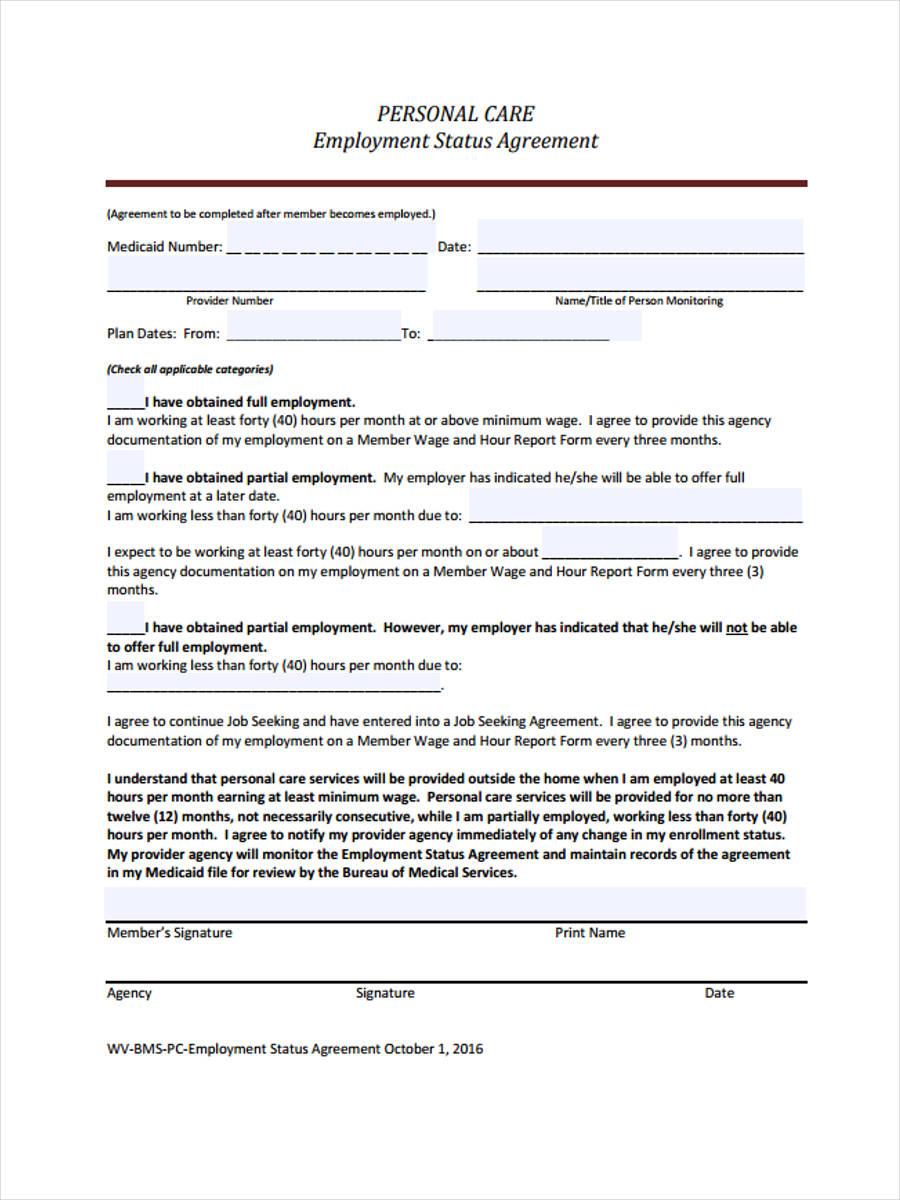 employment status agreement