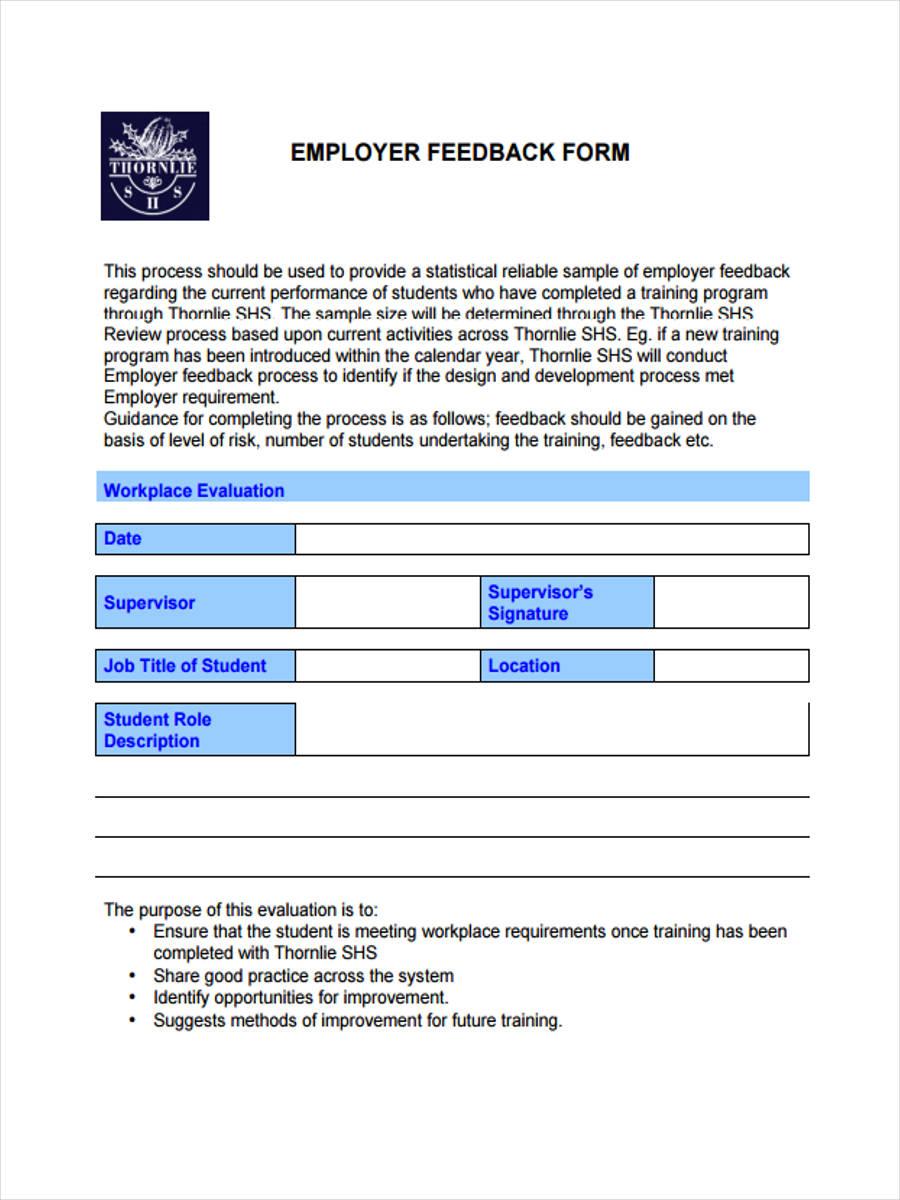 external training feedback