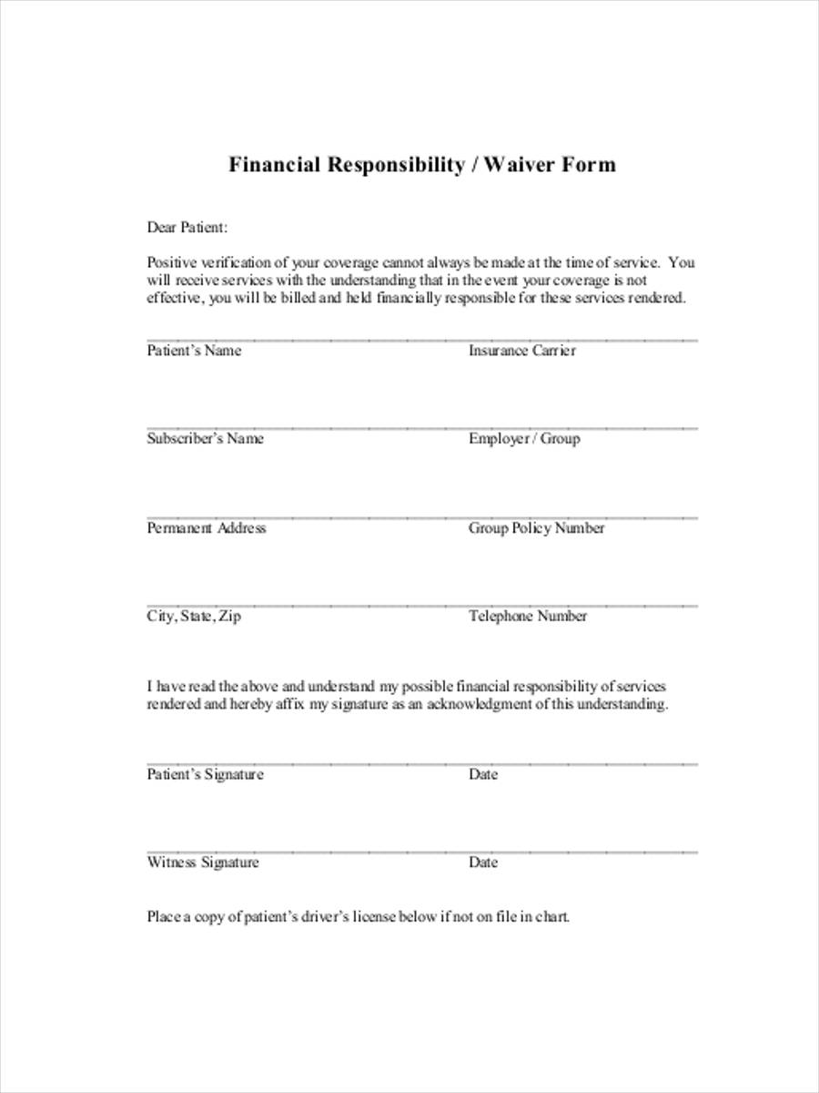 financial responsibility waiver1