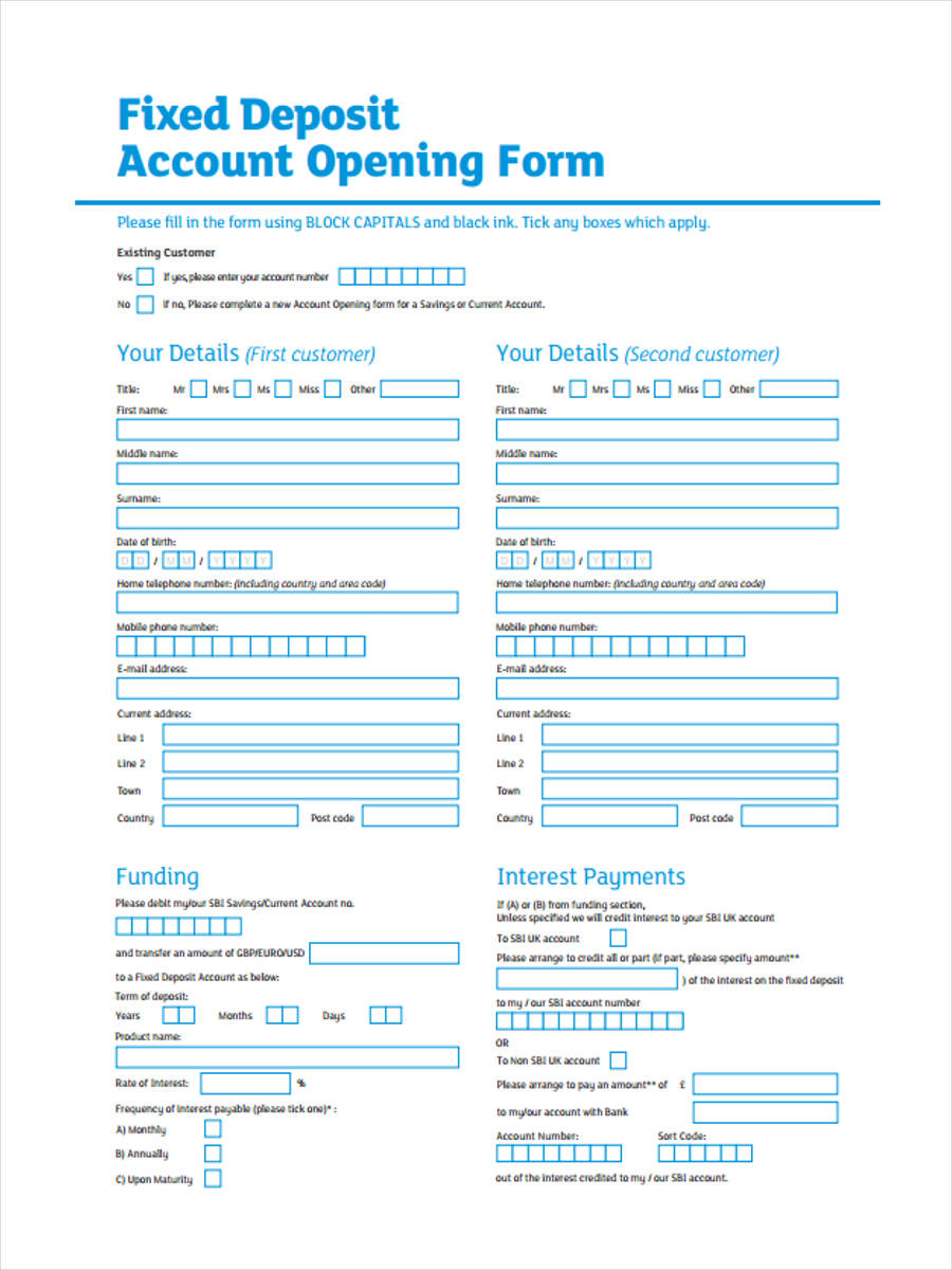 fixed deposit account opening1