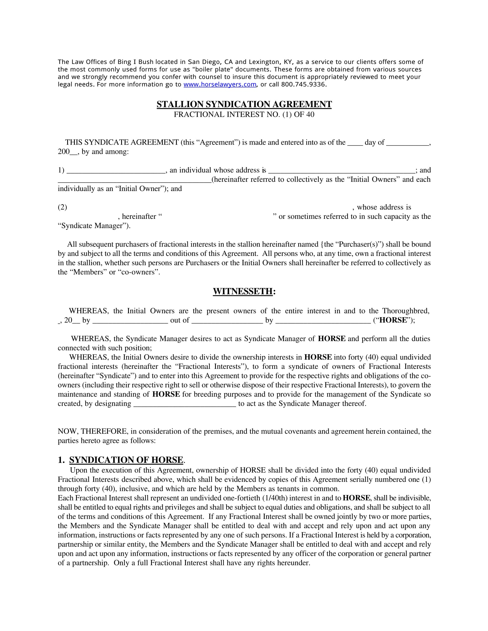 formal lottery syndicate agreement 01