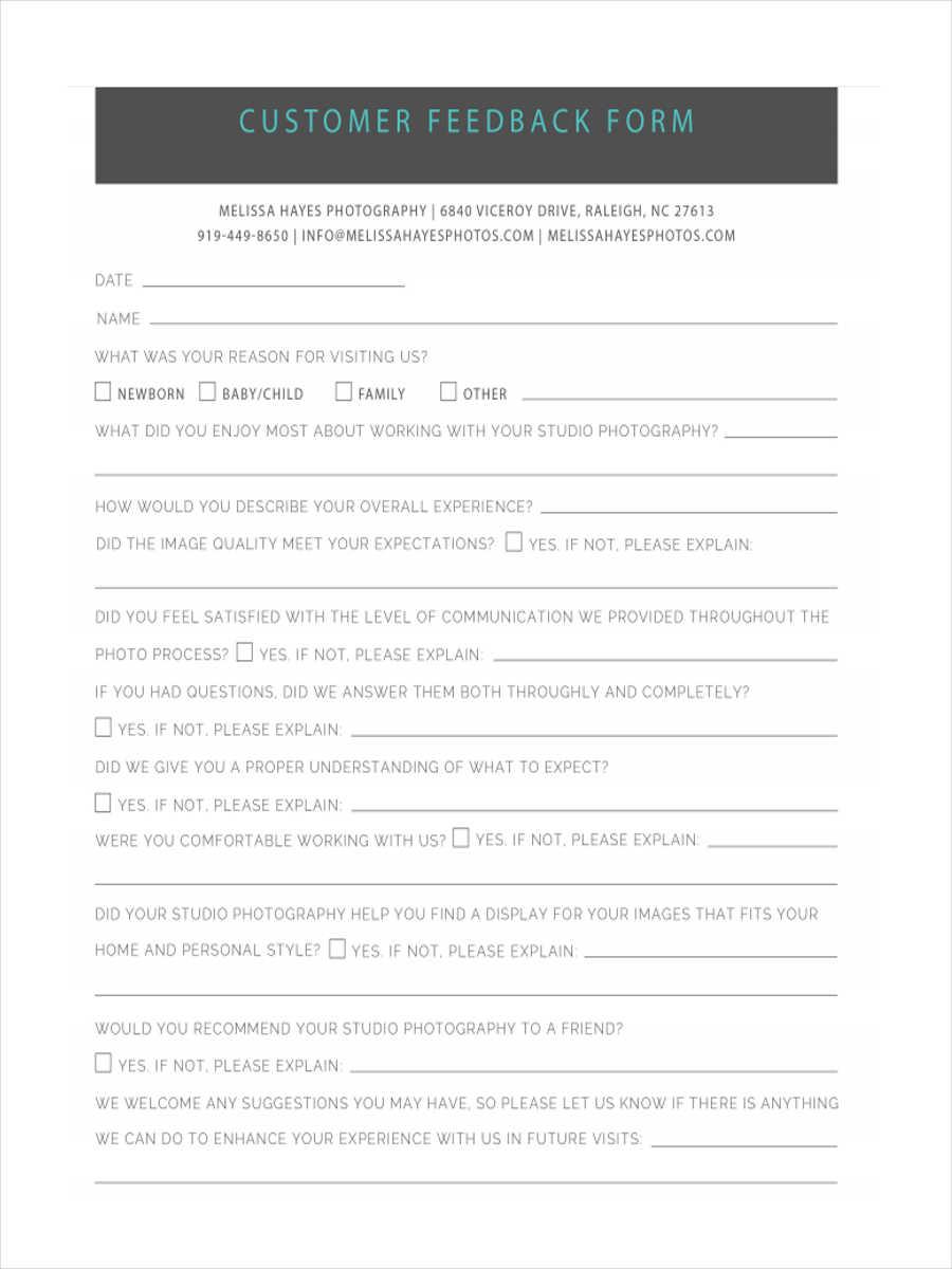 free customer feedback