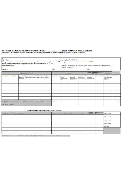 general expense reimbursement form