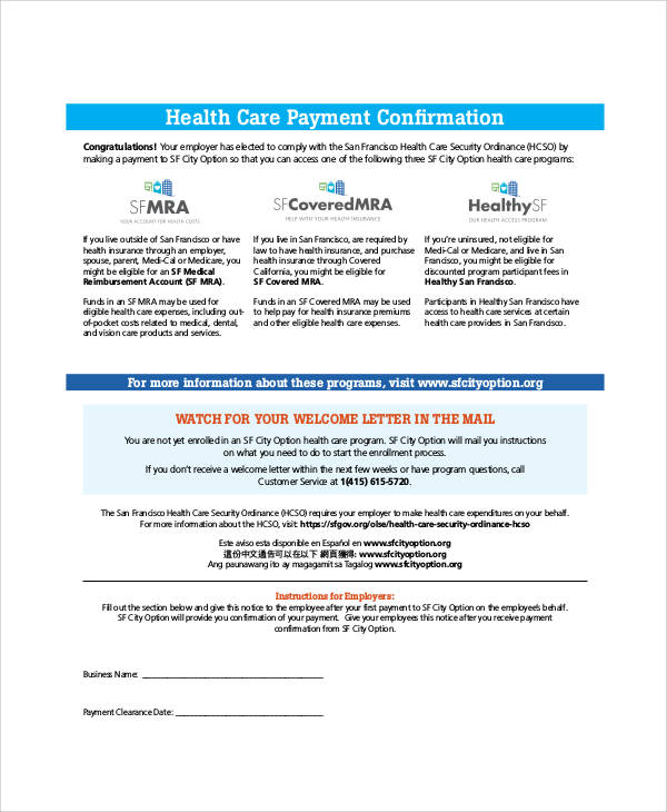 health care form