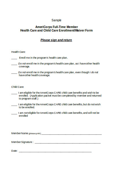 health care waiver form1