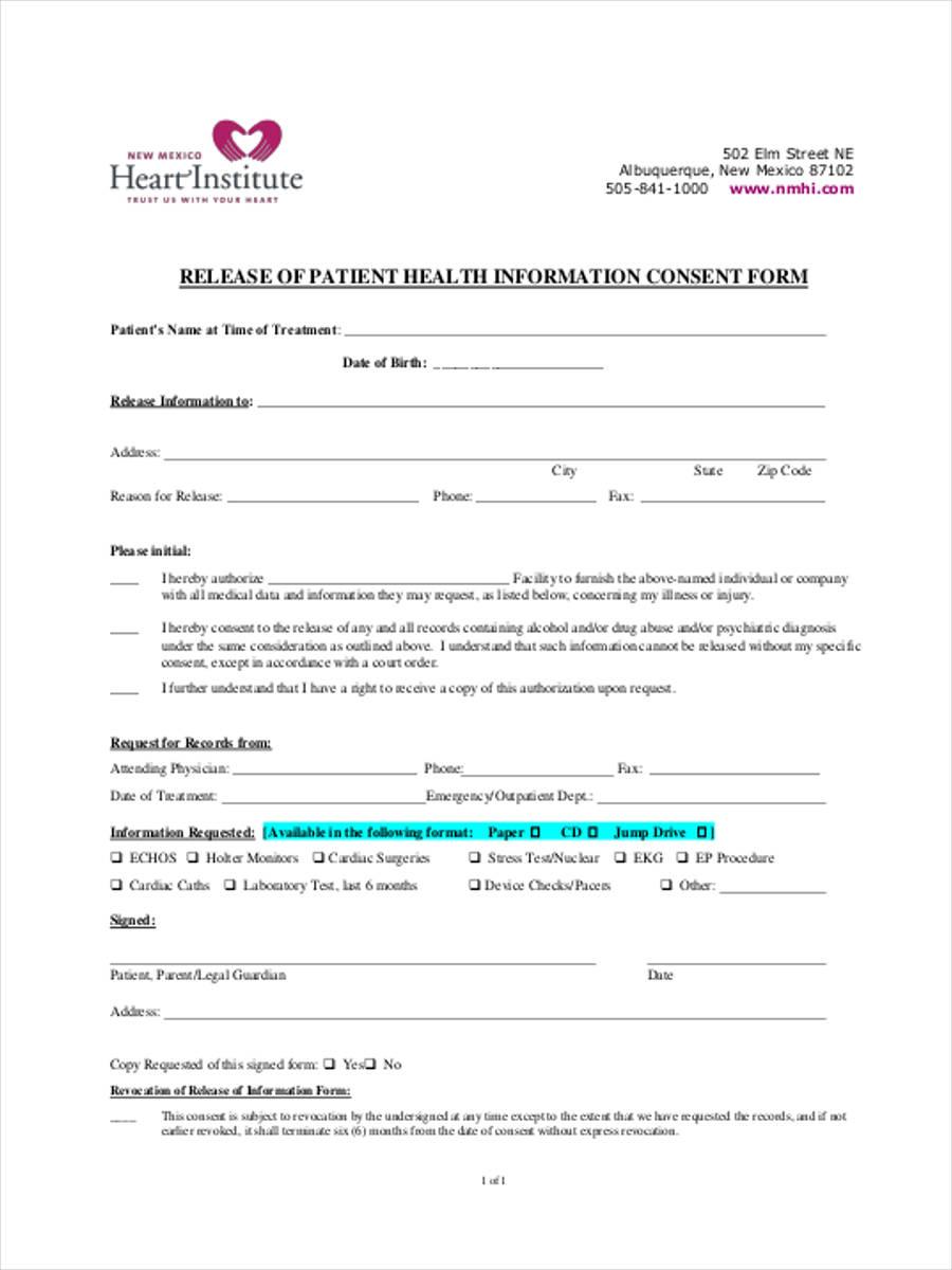health information consent