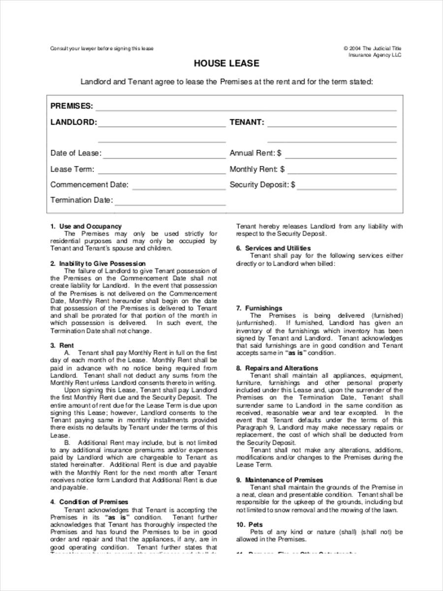 Modern House Lease Agreement Adornment Simple Resume