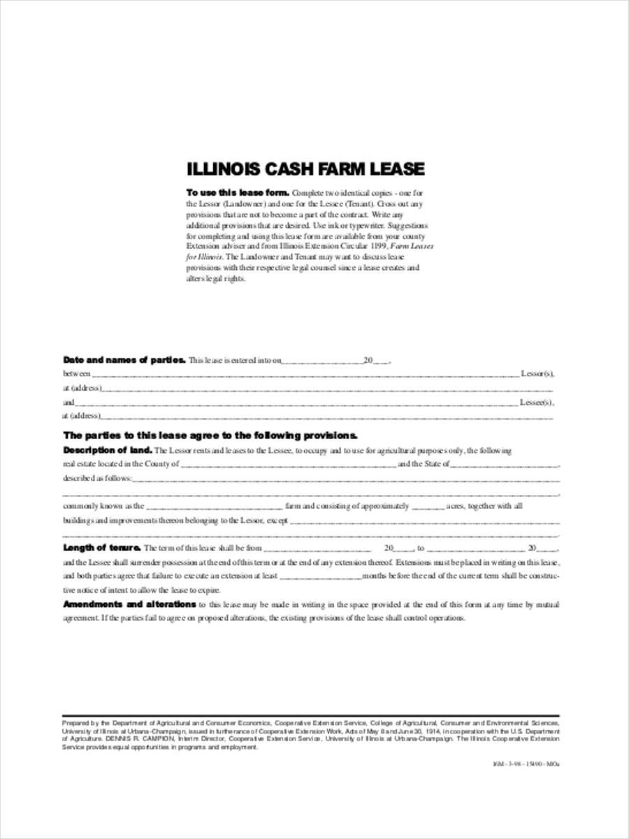 illinois cash farm lease
