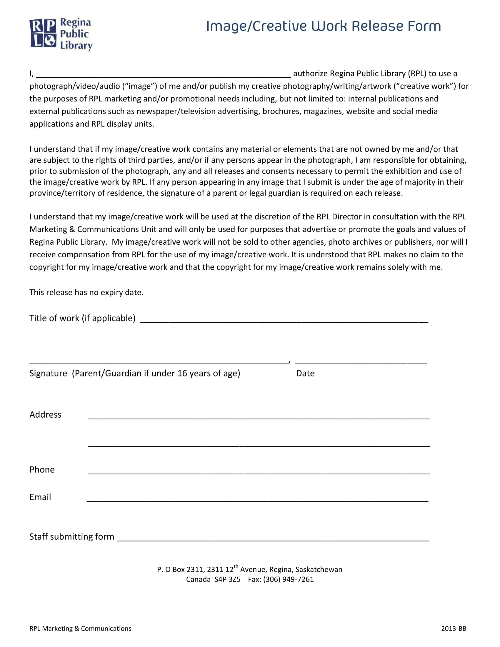 image creative work release form 1