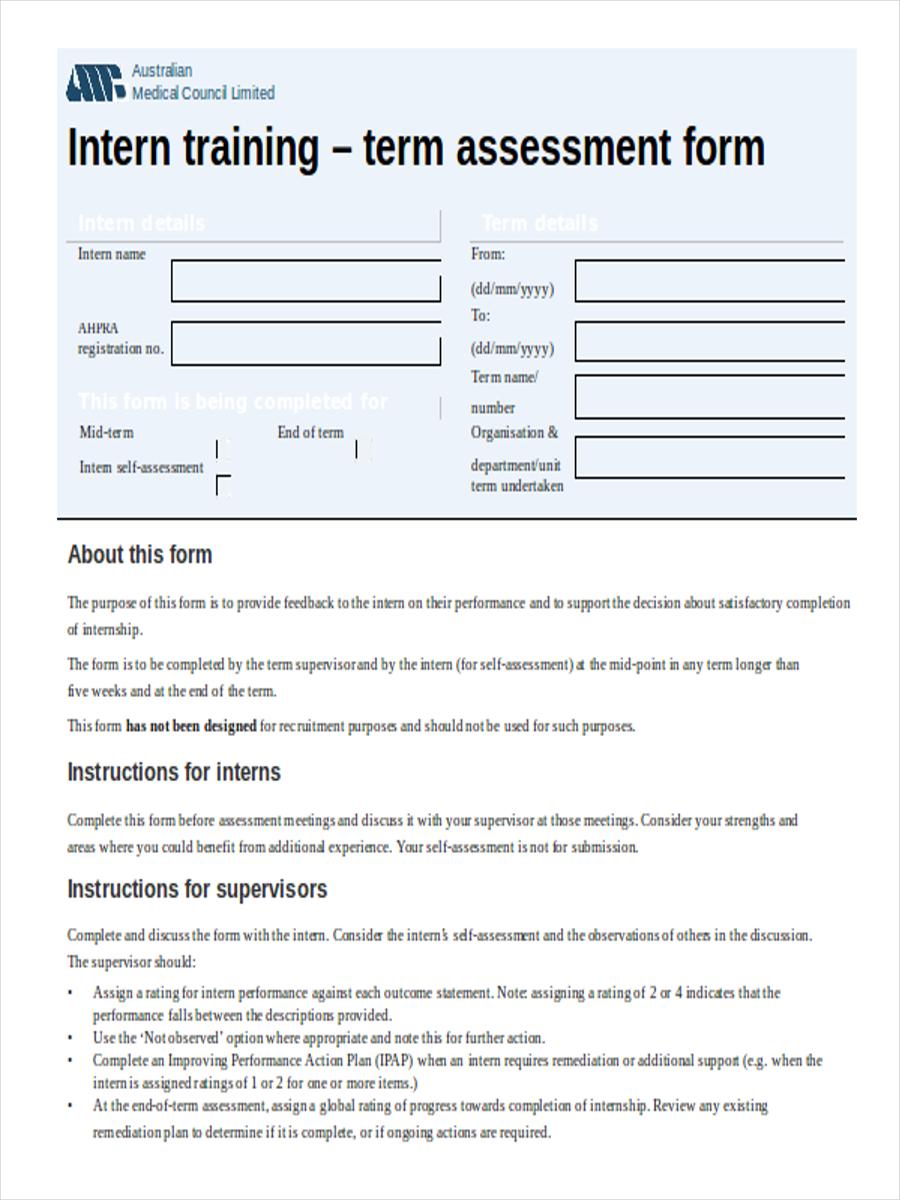intern training assessment form1