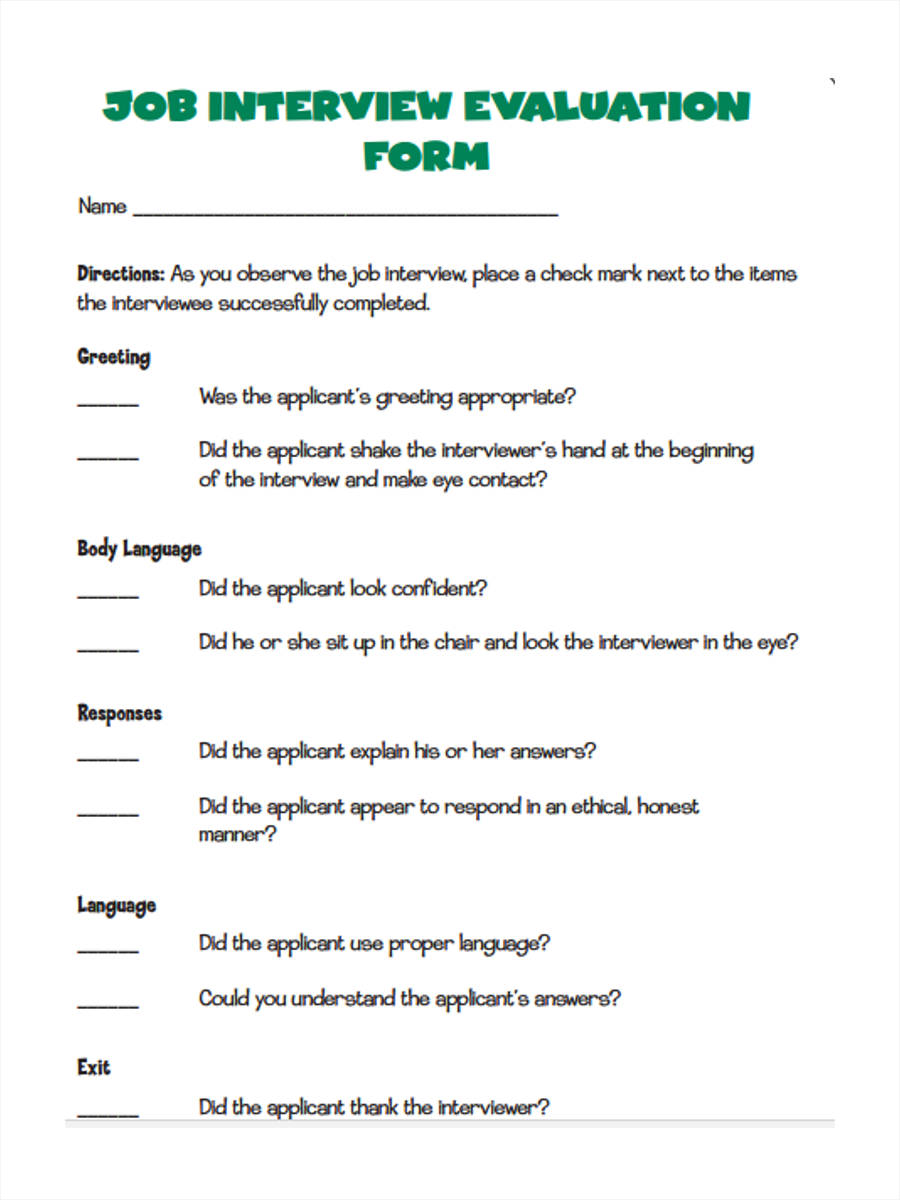 job interview evaluation6