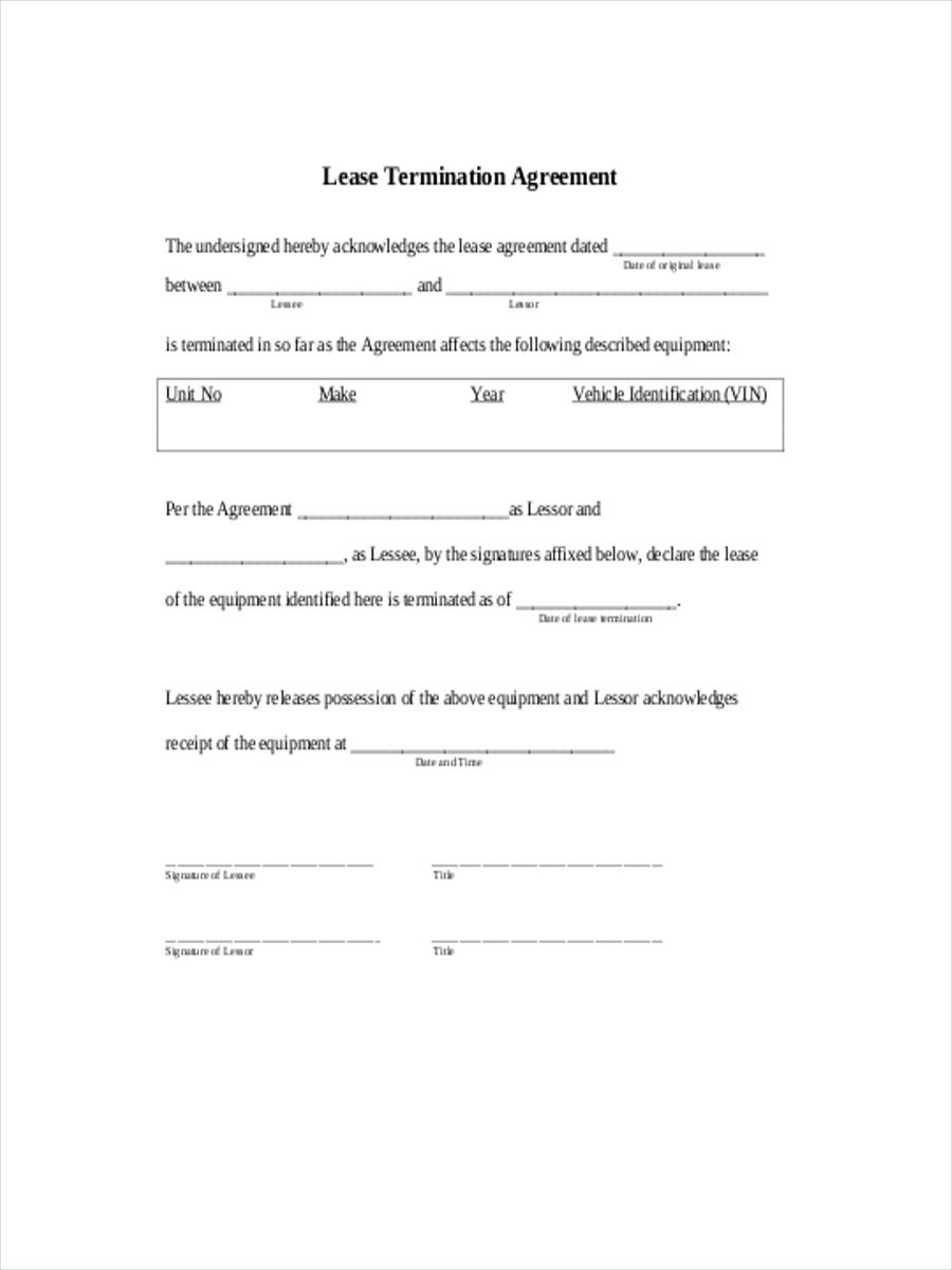 lease termination agreement