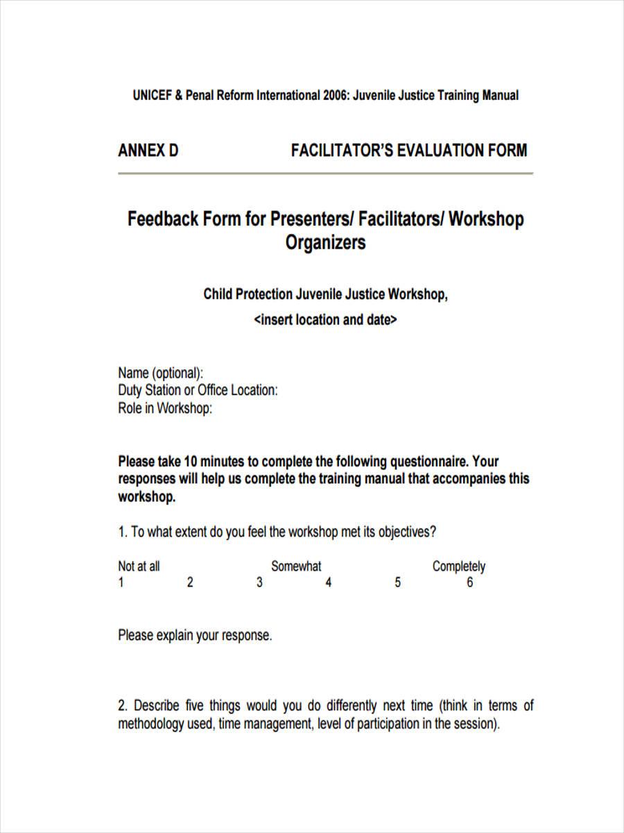 management training feedback