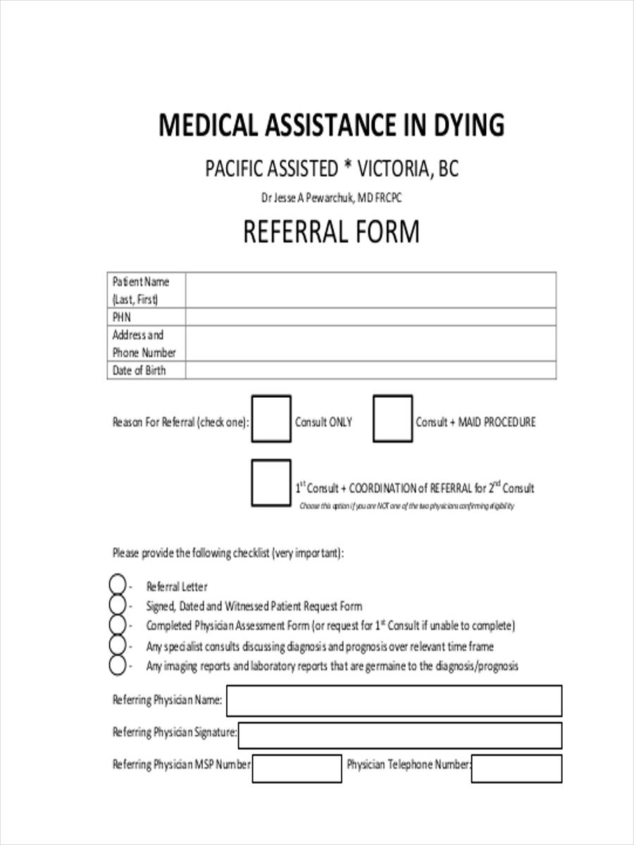 medical assistance form