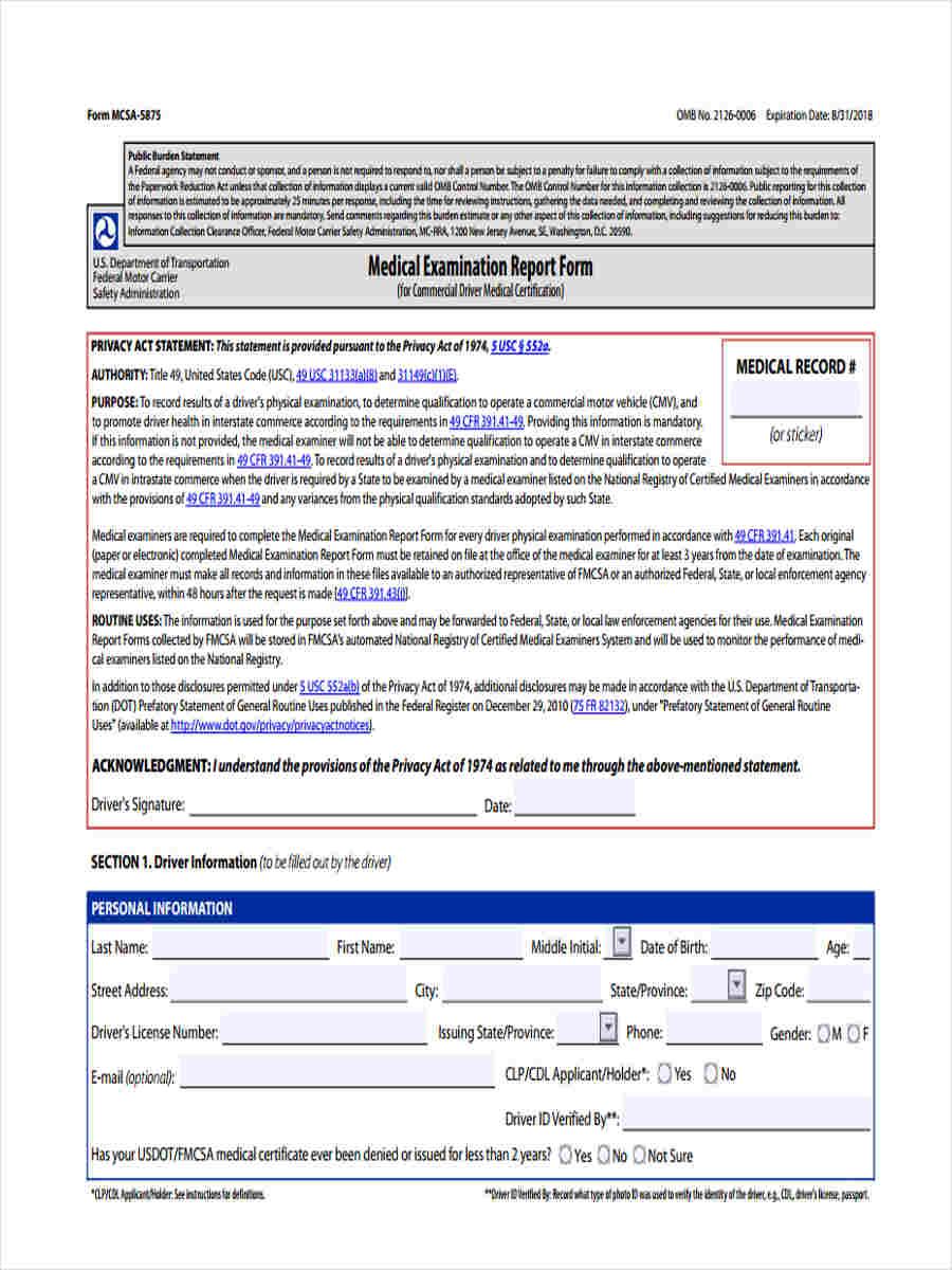 medical examination report1