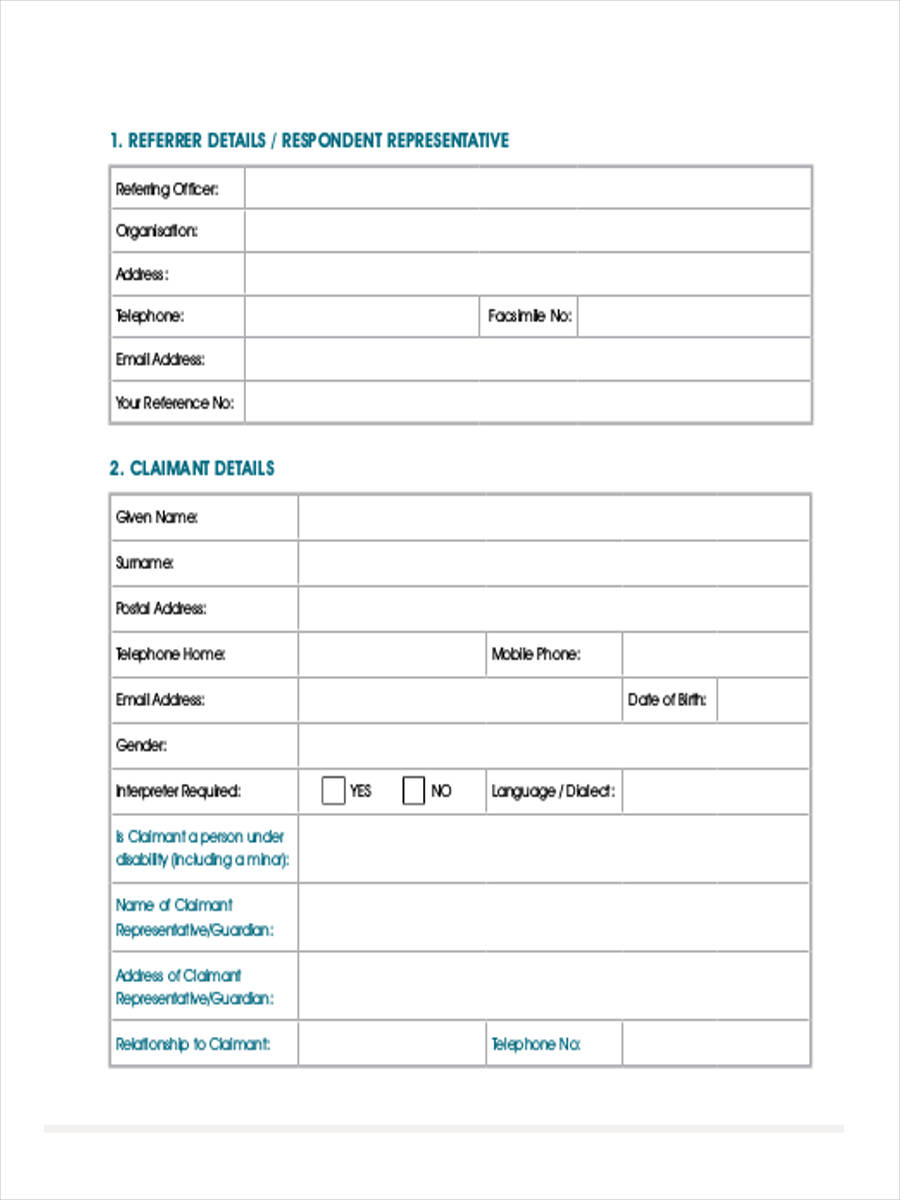 medical panel referral form