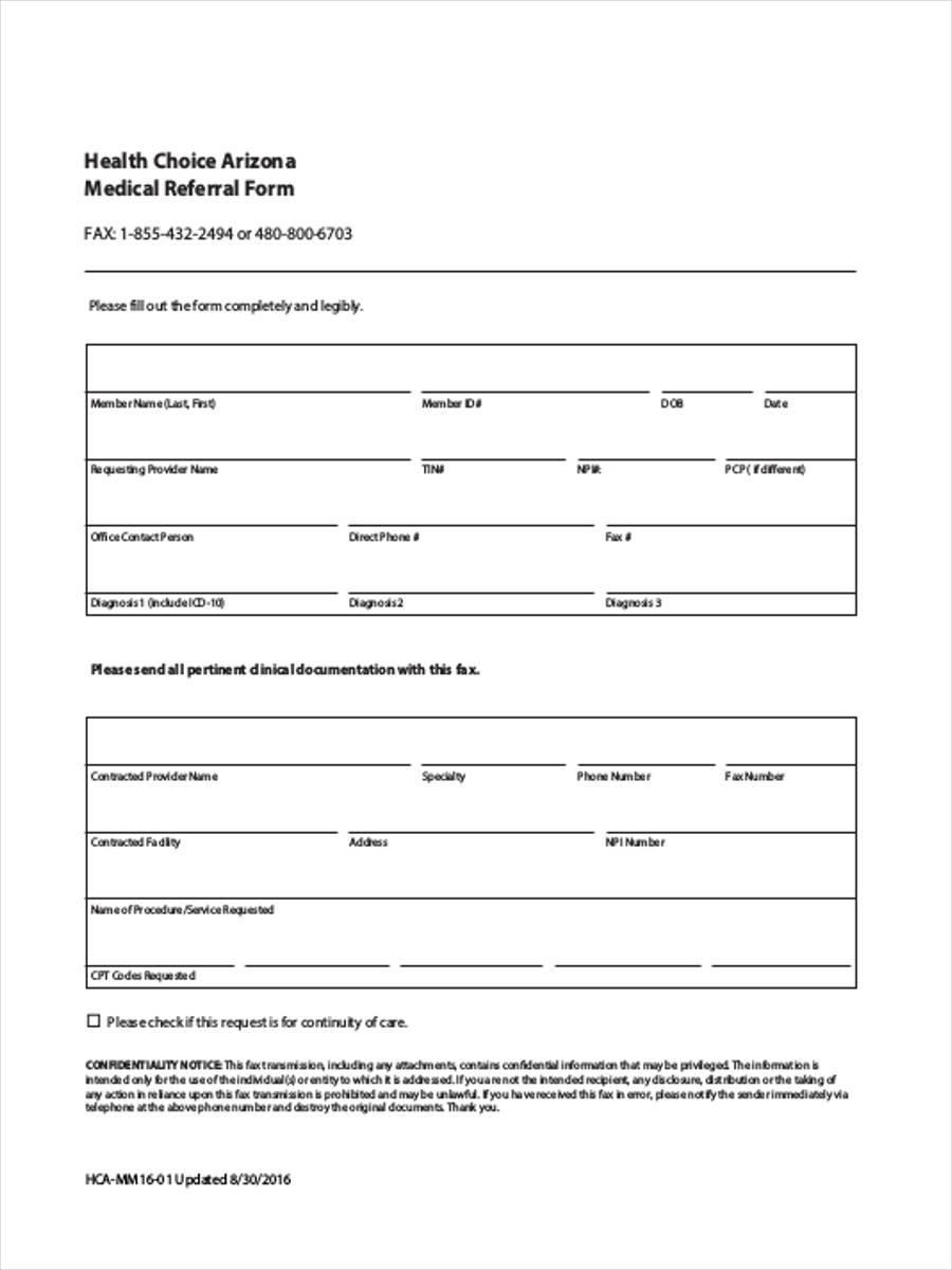 Medical referral form 8 free documents in word pdf for Referral document template